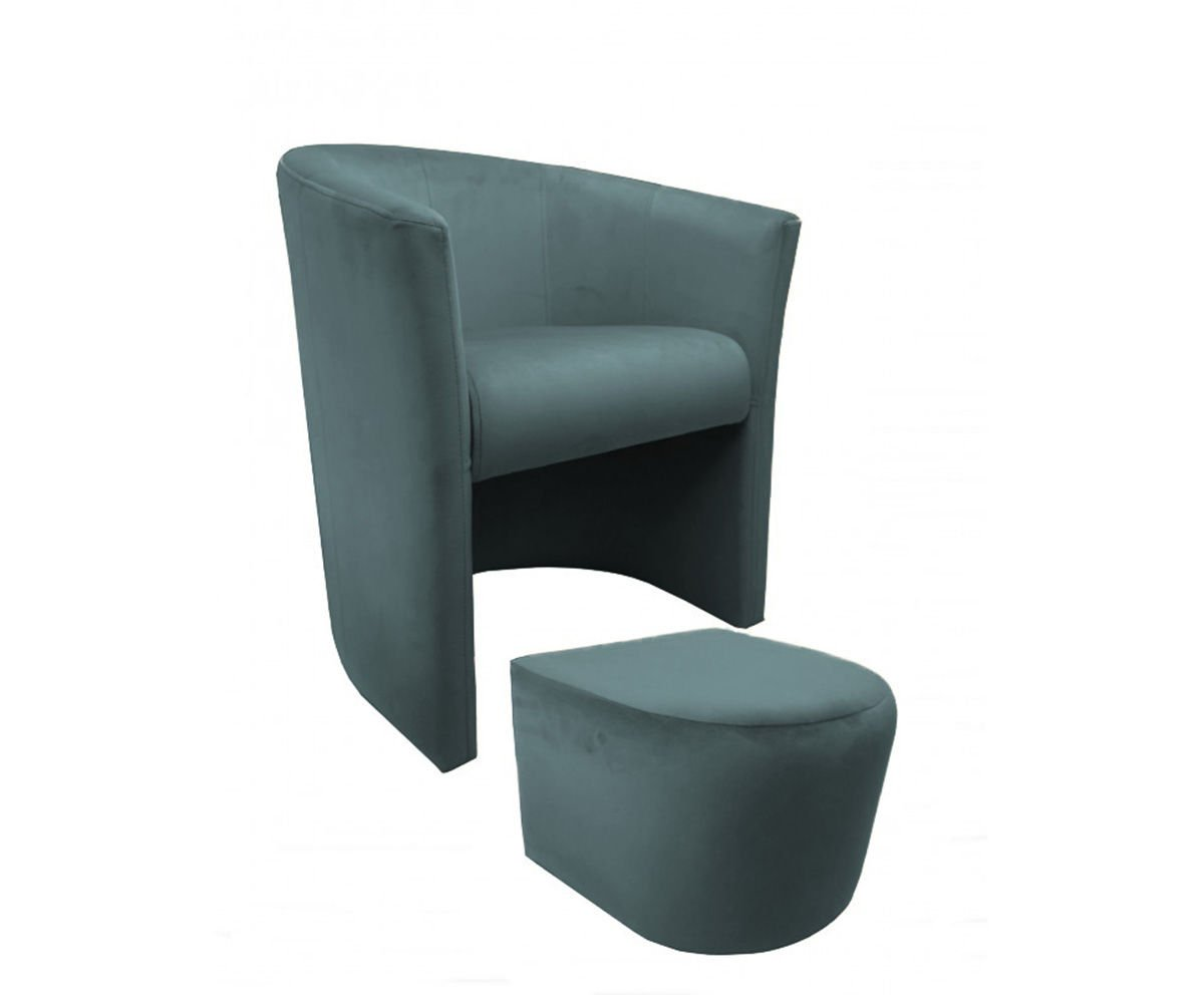product eng CAMPARI armchair with footrest Bluvel 10
