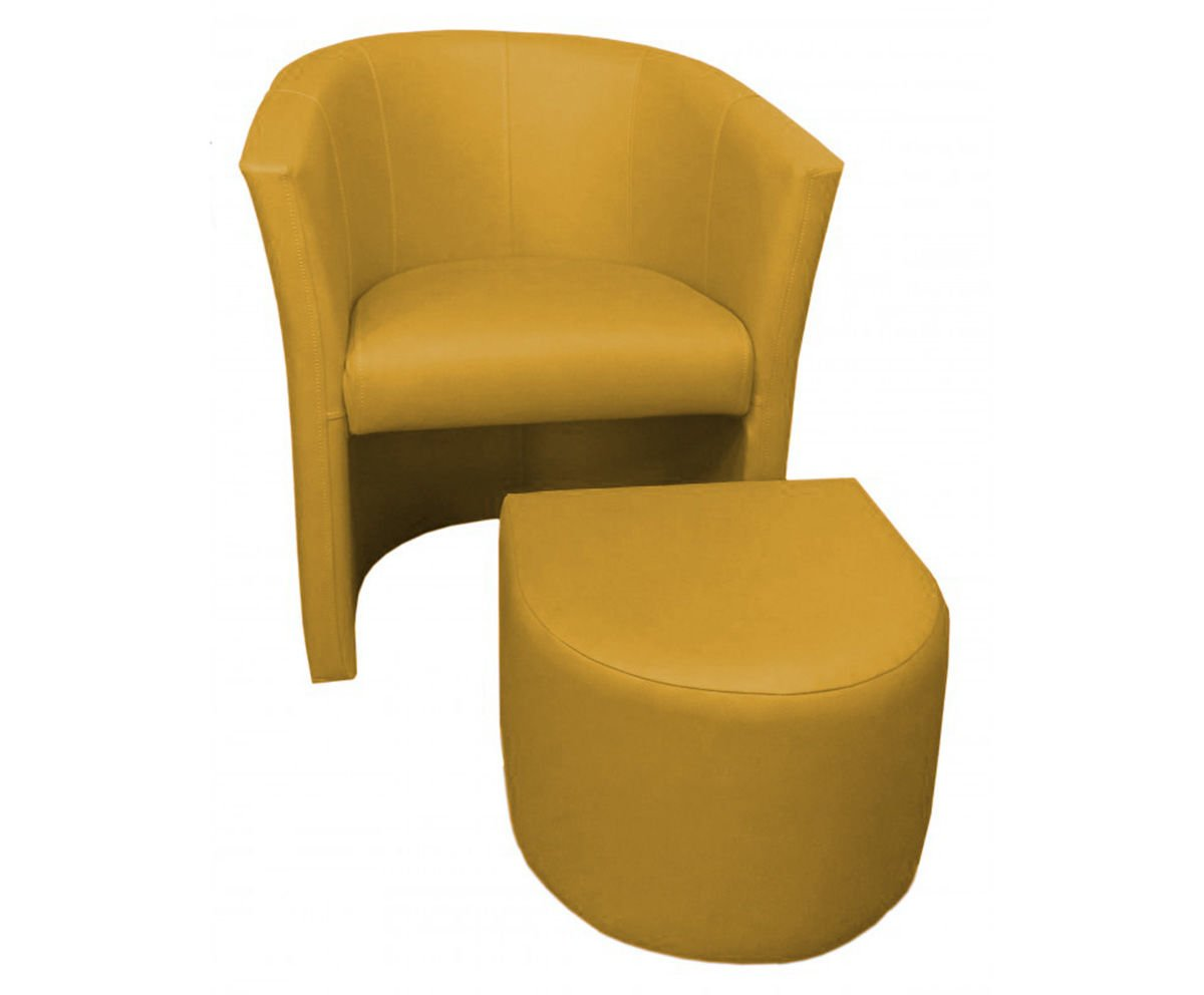 product eng Yellow CAMPARI armchair with footrest