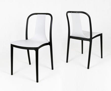 sk design kr053 weiss stuhl aus polypropylen weiss schwarz sonderangebote angebot st hlen. Black Bedroom Furniture Sets. Home Design Ideas