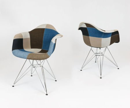 sk design kr012f polster sessel patchwork 6 chrom pat6m. Black Bedroom Furniture Sets. Home Design Ideas
