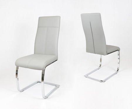 sk design ks028 beige kunsleder stuhl mit chromgestell. Black Bedroom Furniture Sets. Home Design Ideas